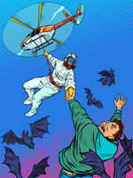 wild animals bats are vectors of infection, the risk of an epidemic