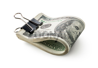Dollars in stationery clip