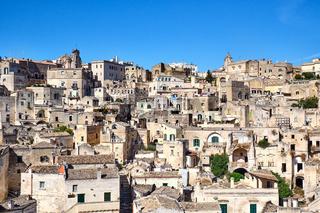 Die alten Häuser von Matera in Süditalien