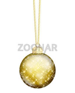 gold christmas ball