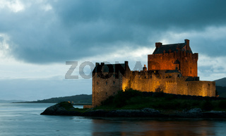 Eilean Donan Castle in the lake of Loch alsh  at the Highlands of Scotland.