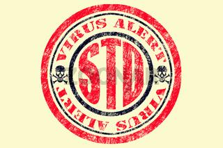 STD Virus Alert Concept