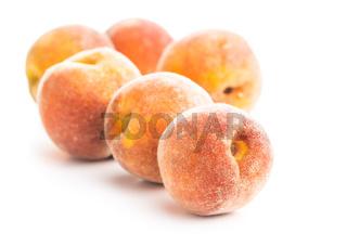 Fresh ripe bio peaches.