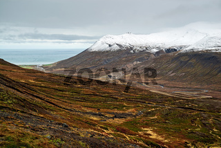 Mountains and view in Borgarfjordur Eystri, Iceland