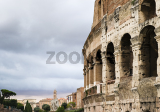 Blick vom Colosseo