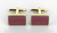 Golden cufflinks