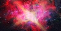 Star explosion in a galaxy of universe. Elements of this image furnished by NASA