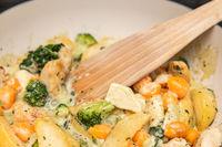 schnelles Essen Gemüsepfanne