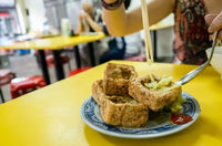 famous Taiwanese snack of stinky tofu