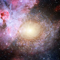 Deep space background. Elements of this image furnished by NASA