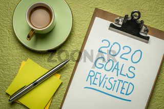 2020 goals revisited - change of business and personal plans