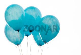 Texture on surface of blue balloon