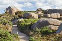 Cote de Granit Rose Path between Rocks