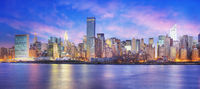 Panoramic view of Midtown East New York at dawn