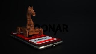 Emotet Trojan Horse Smartphone