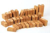 Chart mit Holzklötzen
