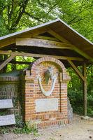 Pferdedenkmal, Schlosspark Ludwigslust, Mecklenburg-Vorpommern, Deutschland