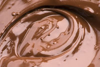 Melted Chocolate Background. Close-up Image
