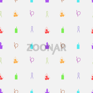 Colored vector background for hookah accessories