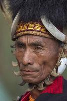 NAGALAND, INDIA, January 2000, Naga Tribal portrait, Hornbill festival