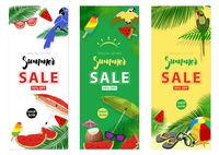 Summer Sale Hintergrundlayout für Banner