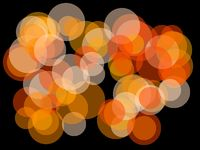 Abstract orange circles illustration background