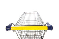 Shopping cart blue and yellow
