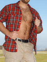 very hairy male body