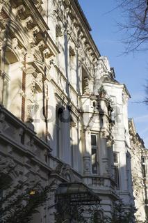 Häuserfront in der Bonner Südstadt, Deutschland