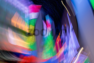 Abstract background created using a long exposure time and multicolored light sources