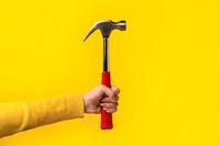 hammer in female hand
