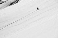 Aufstieg mit Ski zum Langlitinden 1.276m