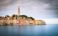 Long Exposure of city of rovinj in istria croatia