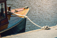 tethered boat detail