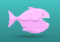pink fish cartoon