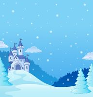 Winter countryside with castle theme 2