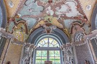 Interior of the architectural ensemble in the Kuskovo park. Moscow, Russia