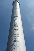 Schornstein einers Biomassen Kraftwerks