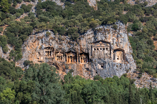 Kings Tombs of Kaunos near Dalyan, Turkey.