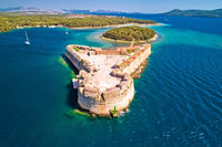 Saint Nikola fortress overlooking Sibenik bay entrance