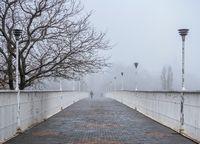 Mother-in-law bridge in Odessa, Ukraine