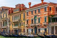 Gondolas and palaces of beautiful Venice, Italy
