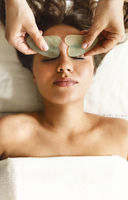 Face massage or beauty treatment in spa salon