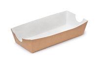 Empty paper hot dog tray