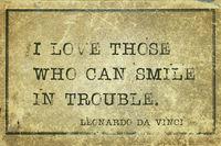 smile in trouble DaVinci