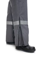 Male winter work trousers isolated cropped view
