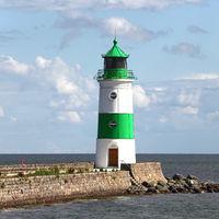Der Leuchtturm von Schleimünde im Westen der Ostsee