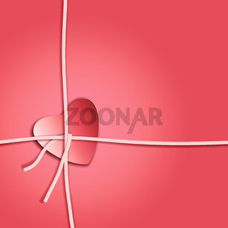 Romantic gift card with heart