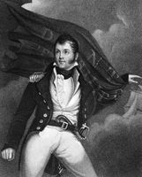 Oliver Hazard Perry (1785-1819) on engraving from 1835. American naval commander. Engraved by J.B.Forrest and published in''National Portrait Gallery of Distinguished Americans Volume II''