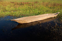 Makoro boat on water